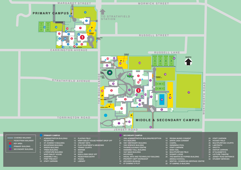 Map of the Santa Sabina Campus