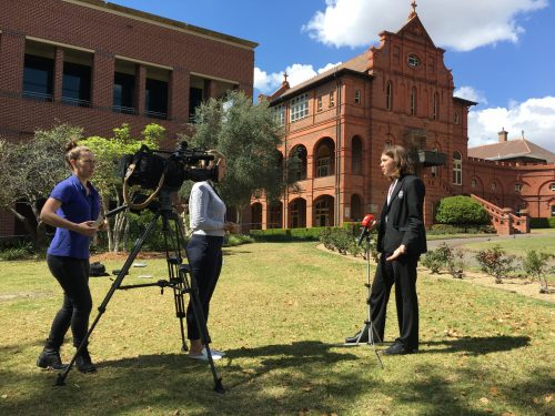 Santa Sabina on national TV news